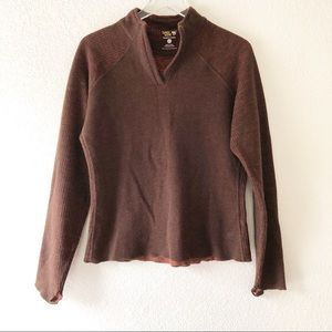 Mountain Hardwear brown wool quarter zip pullover